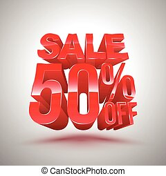 Sale 50 percent off red