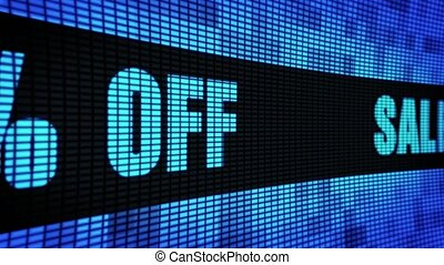 Sale 60% Percent Off Side Text Scrolling LED Wall Pannel...