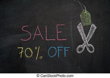 Sale 70% off on chalkboard