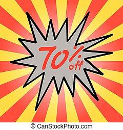 Sale 70% text