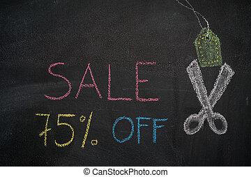 Sale 75% off on chalkboard