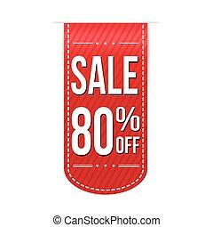 Sale 80% off banner design