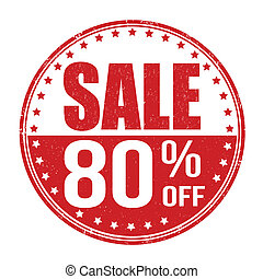 Sale 80% off stamp