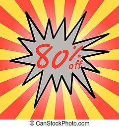 Sale 80% text
