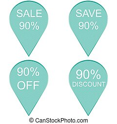 Sale 90 percent, Label
