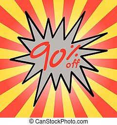 Sale 90% text