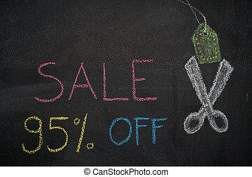 Sale 95% off on chalkboard