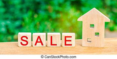 """""""sale""""., affordable, maison, vente, estate., inscription, vrai, propriété, maison bois, housing."""