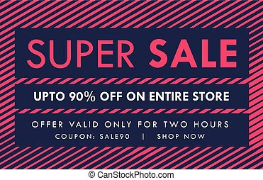 sale and offer banner voucher vector design template