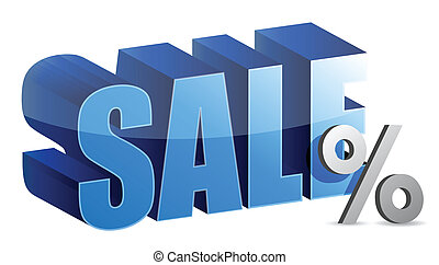 sale and percentage sign text