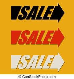 Sale Arrow Design Element