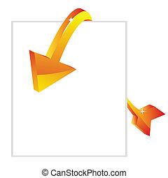 sale arrow with tag
