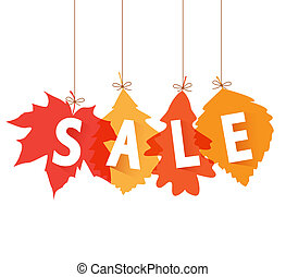 sale autumn - Vector illustration sale tags for autumn...