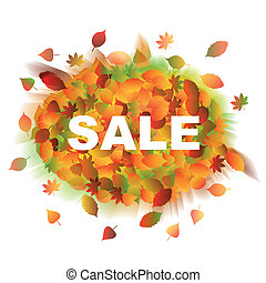 sale., autunno, leaves.