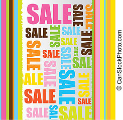sale background - colorful with sale text over brown...