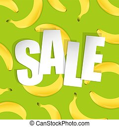 Sale Background With Banana