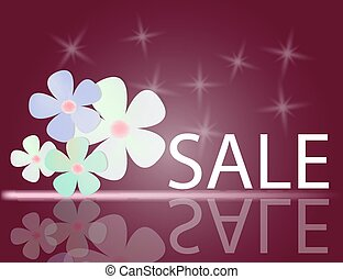 Sale Background with Colorful Flowers for your design. Vector Il