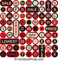 Sale background with percent discount pattern