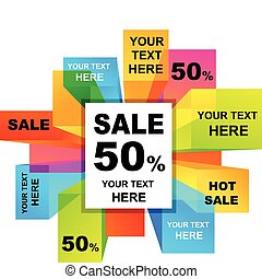 Sale backgrounds  - Collection of colorful sale backgrounds