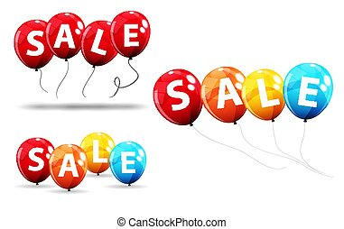 Sale Balloon Concept of Discount. Special Offer Template .Vector Illustration