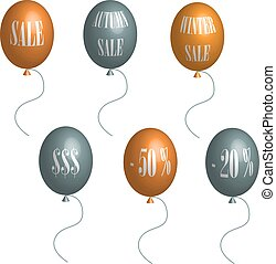 Sale balloons in 3D