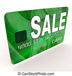 Sale Bank Card Means Retail Price Reduction