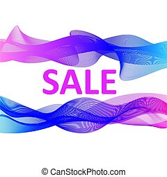 Sale banner abstract colorful design