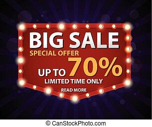 Sale banner and best offer design - Vector Illustration of...