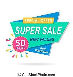 Sale banner discount colorful design
