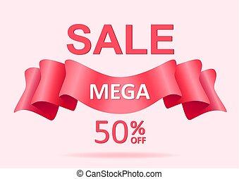 Sale banner discount pink design