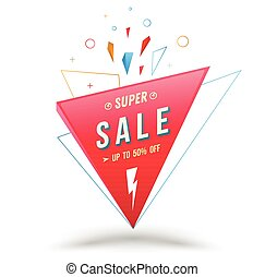 Sale banner for promotion advertising.