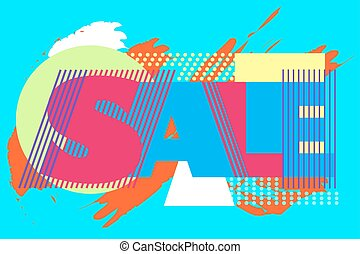 Sale banner on colorful background.