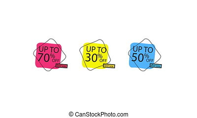 Sale Banner Price Discount Motion Graphics Animation Label...