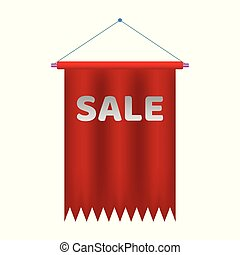 Sale banner. Realistic