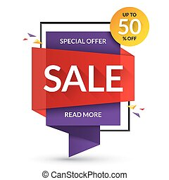 Sale banner. Special offer and discount template