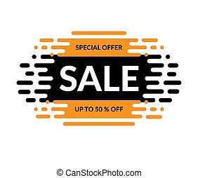 Sale banner. Special offer design. Up to 50 percent off. Vector illustration.