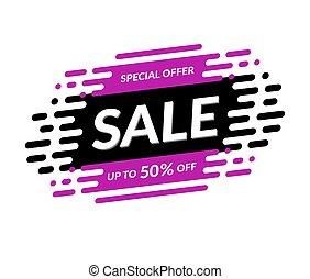 Sale banner. Special offer template. Discount label. Shopping background. Mega sale design. Vector illustration