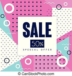 Sale banner  special offer and discount vector template with
