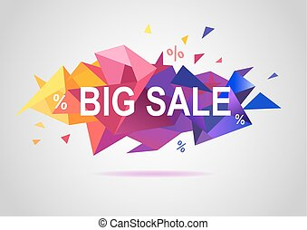 Sale banner template colorful design