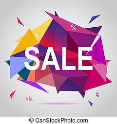 Sale banner template colorful design