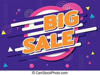Sale banner template design background