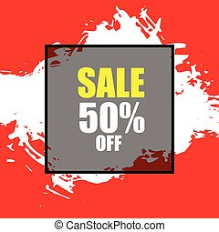 sale banner template design for promotion