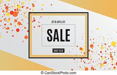 Sale banner template design. Vector illustration.