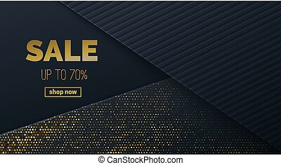 Sale banner template design. Vector illustration. Sliced...
