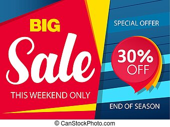 Sale banner template design with red sticker