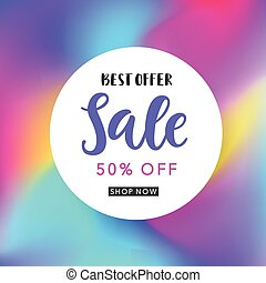 Sale banner template for online shopping