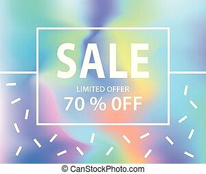 Sale banner template for shopping