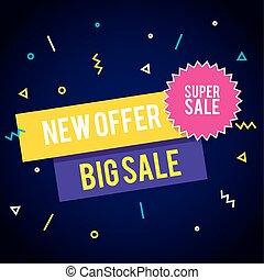sale banner template, new offer, big sale, super sale, special offer banner template