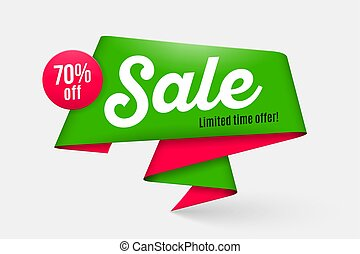 Sale banner template, special offer, end of season. Vector illustration