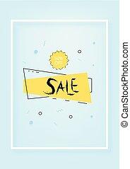 Sale banner. Vector illustration.